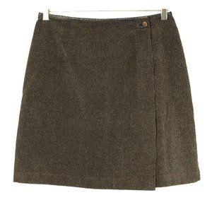 Vtg SIGRID OLSEN Olive Corduroy Wrap Short Skirt